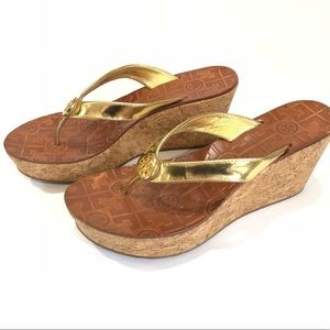 Tory Burch Thora Cork Wedge Platform Sandals